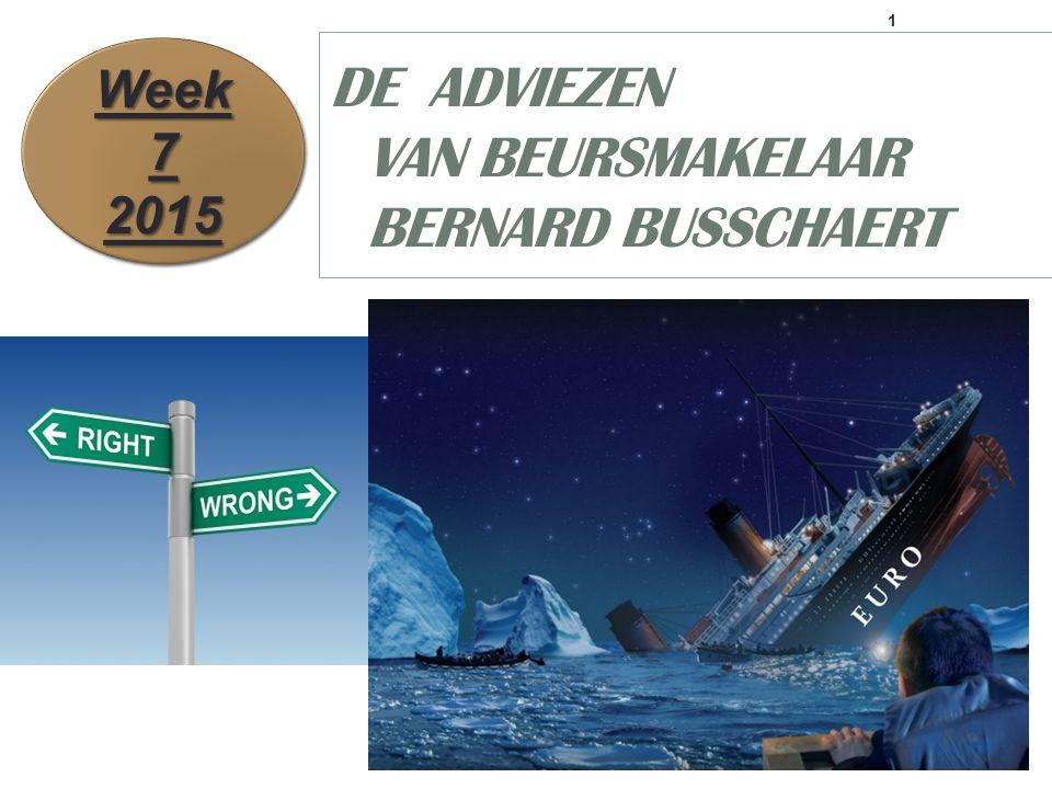 1 DE ADVIEZEN VAN BEURSMAKELAAR BERNARD BUSSCHAERT Week 7 2015 2015