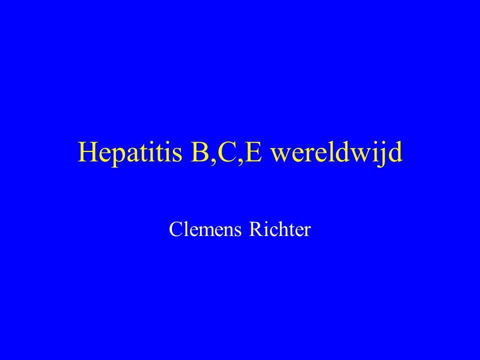 Hepatitis B,C,E wereldwijd Clemens Richter