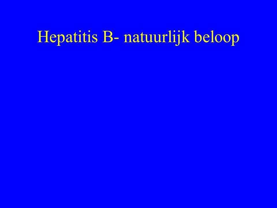 Hepatitis B- natuurlijk beloop