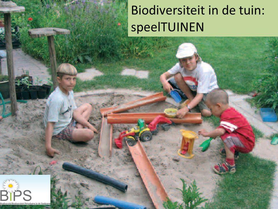 Biodiversiteit in de tuin: speelTUINEN