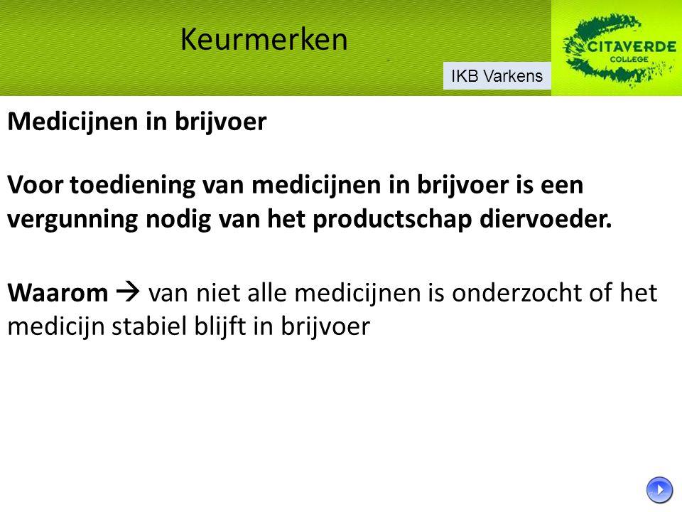Medicijnen in brijvoer Voor toediening van medicijnen in brijvoer is een vergunning nodig van het productschap diervoeder. Waarom  van niet alle medi
