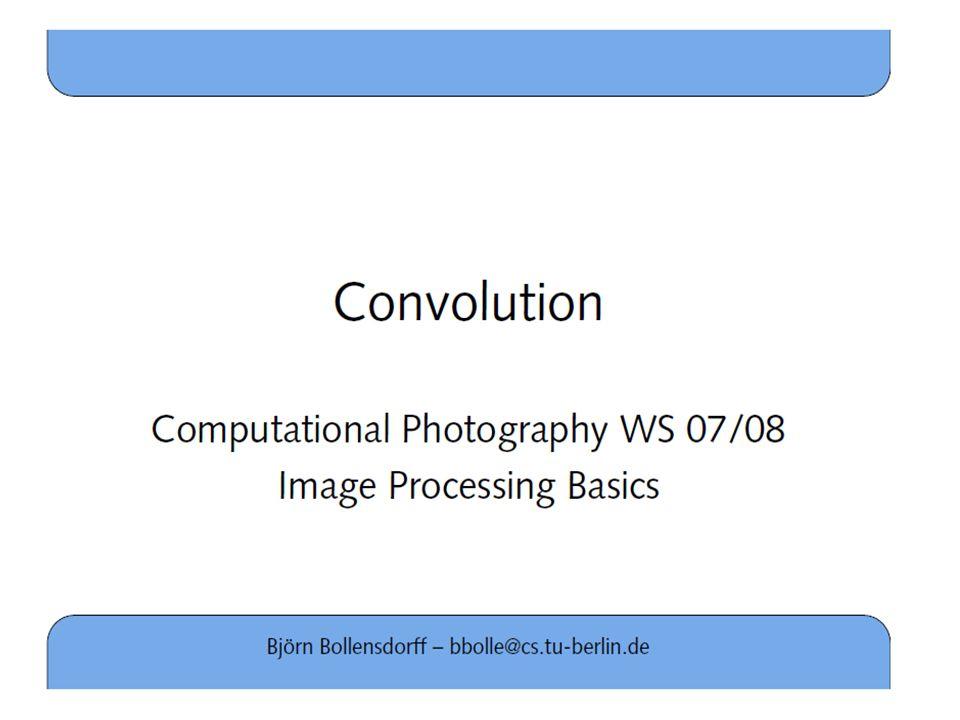 # Convolutie