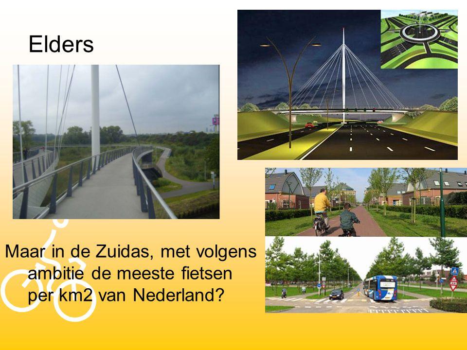 Elders Maar in de Zuidas, met volgens ambitie de meeste fietsen per km2 van Nederland?