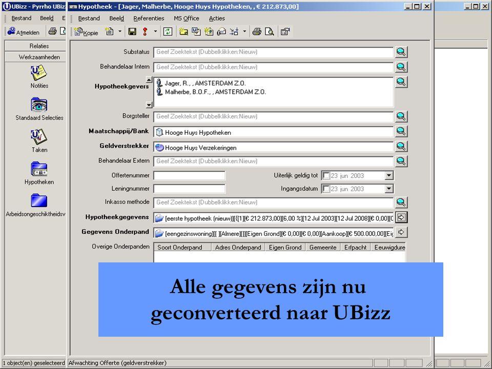 Pyrrho Advanced Industry Solutions B.V. Alle gegevens zijn nu geconverteerd naar UBizz
