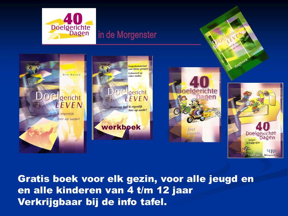 Gratis boek voor elk gezin, voor alle jeugd en en alle kinderen van 4 t/m 12 jaar Verkrijgbaar bij de info tafel.