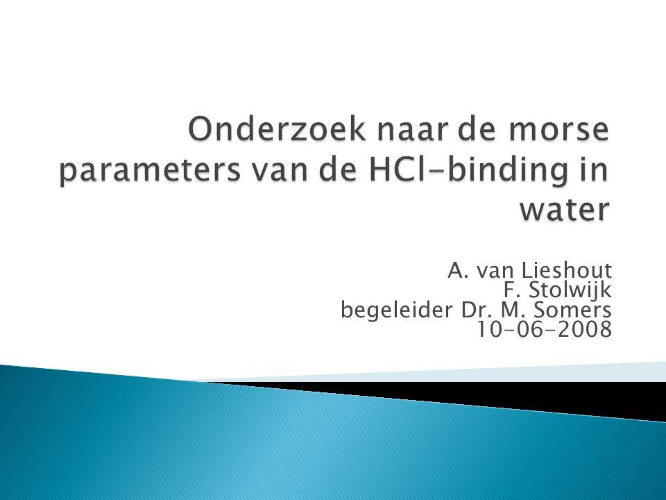 A. van Lieshout F. Stolwijk begeleider Dr. M. Somers 10-06-2008