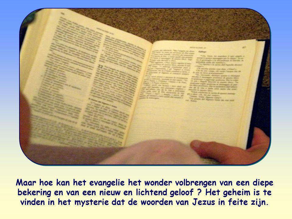 Maar hoe kan het evangelie het wonder volbrengen van een diepe bekering en van een nieuw en lichtend geloof ? Het geheim is te vinden in het mysterie