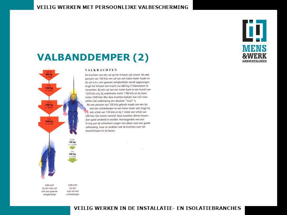 VEILIG WERKEN MET PERSOONLIJKE VALBESCHERMING VEILIG WERKEN IN DE INSTALLATIE- EN ISOLATIEBRANCHES VALBANDDEMPER (2)
