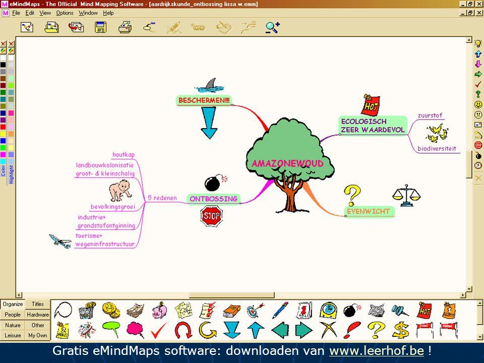 Gratis eMindMaps software: downloaden van www.leerhof.be !www.leerhof.be