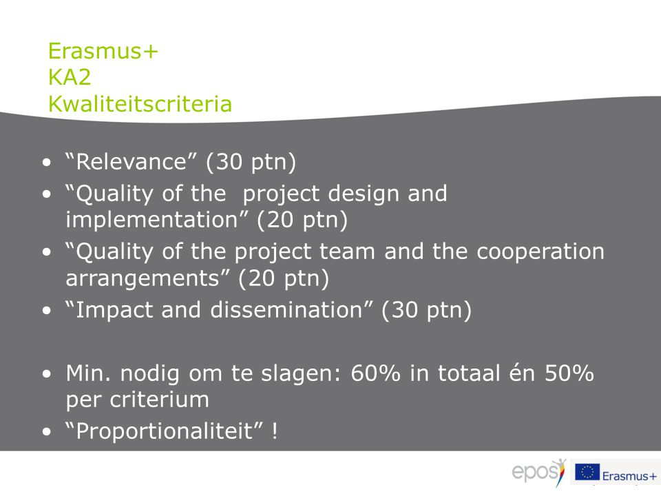 """Relevance"" (30 ptn) ""Quality of the project design and implementation"" (20 ptn) ""Quality of the project team and the cooperation arrangements"" (20 pt"
