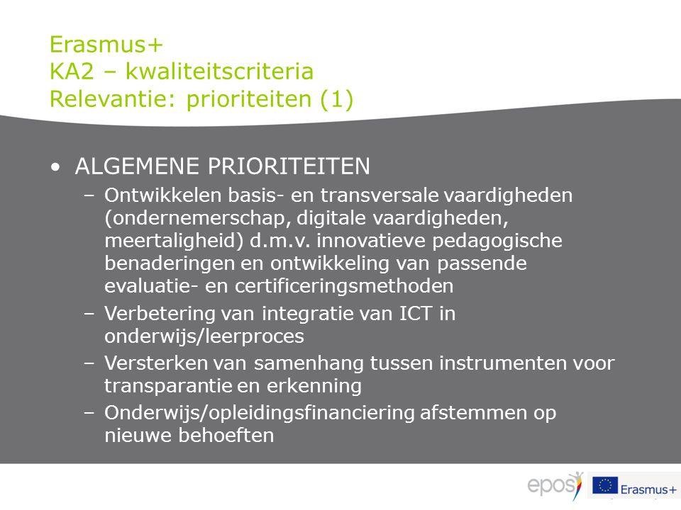 ALGEMENE PRIORITEITEN –Ontwikkelen basis- en transversale vaardigheden (ondernemerschap, digitale vaardigheden, meertaligheid) d.m.v. innovatieve peda