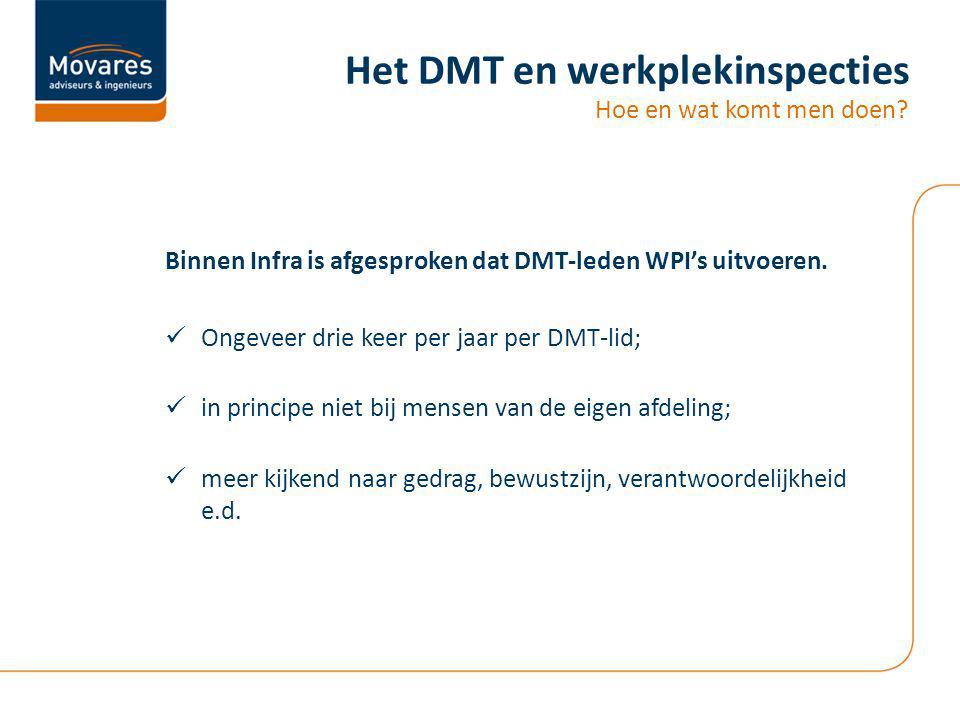 Het DMT en werkplekinspecties Hoe en wat komt men doen.