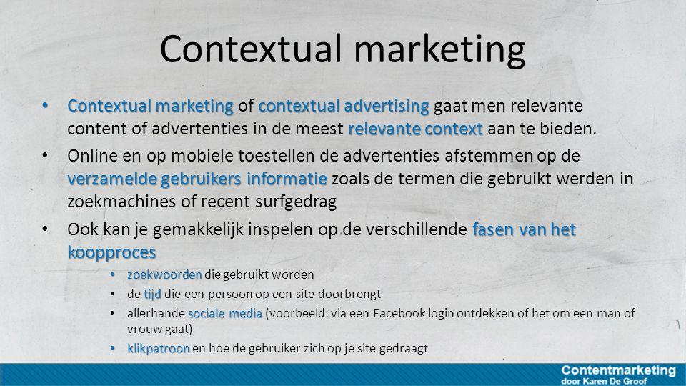 Contextual marketing