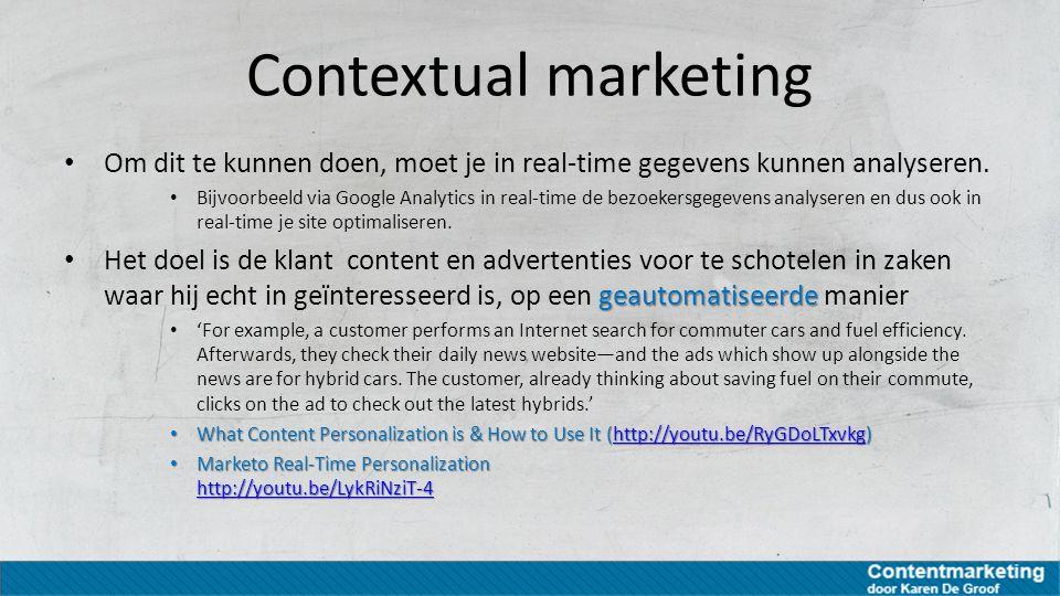 Opletten bij contextual marketing