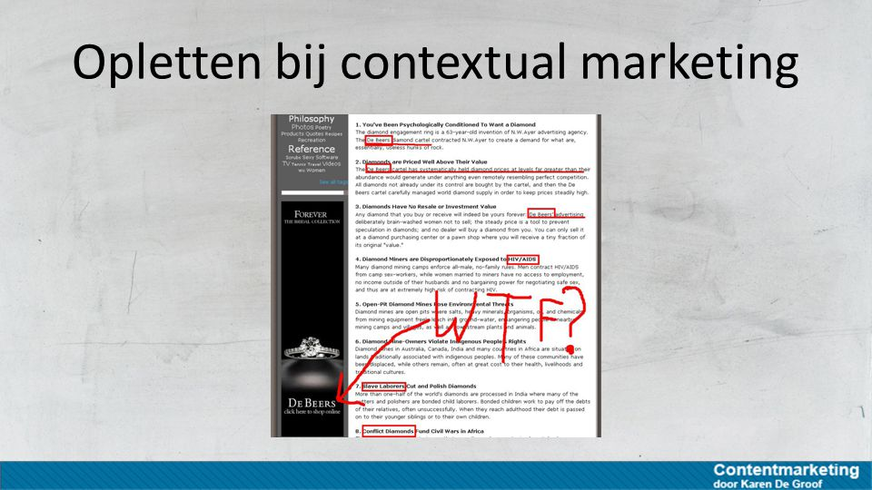 Opletten bij contextual marketing