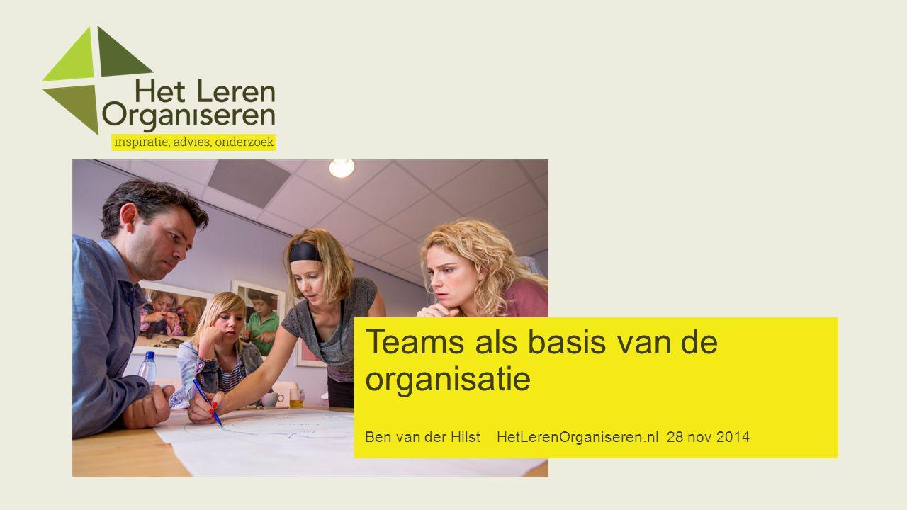 Teams als basis van de organisatie Ben van der Hilst HetLerenOrganiseren.nl 28 nov 2014