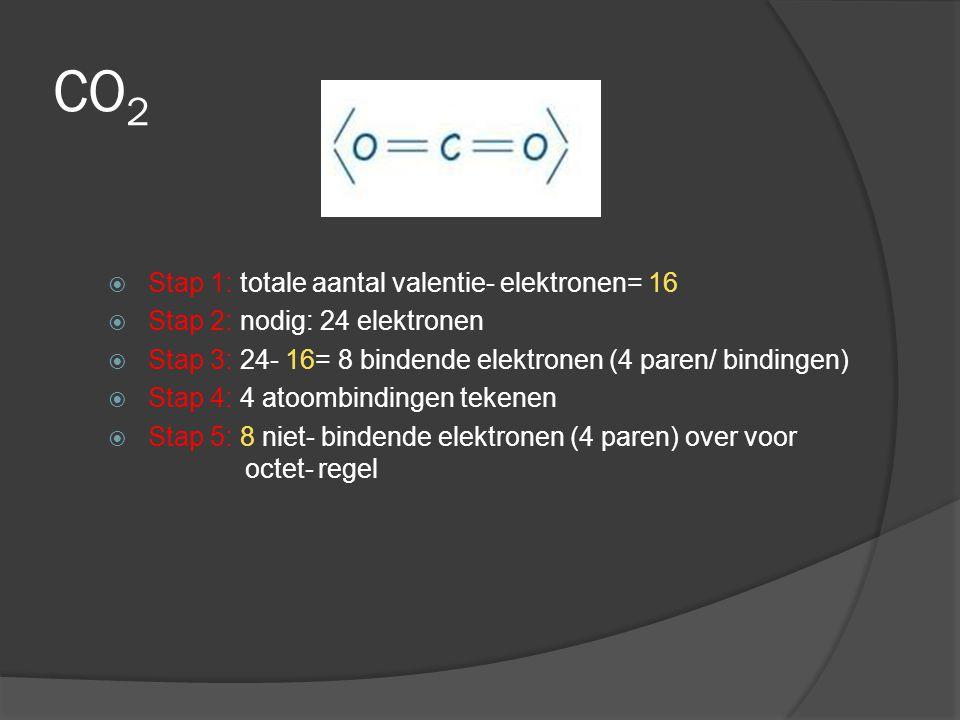  Als het centrale atoom P, N of S is, kan het aantal omringende elektronen soms groter zijn dan acht.