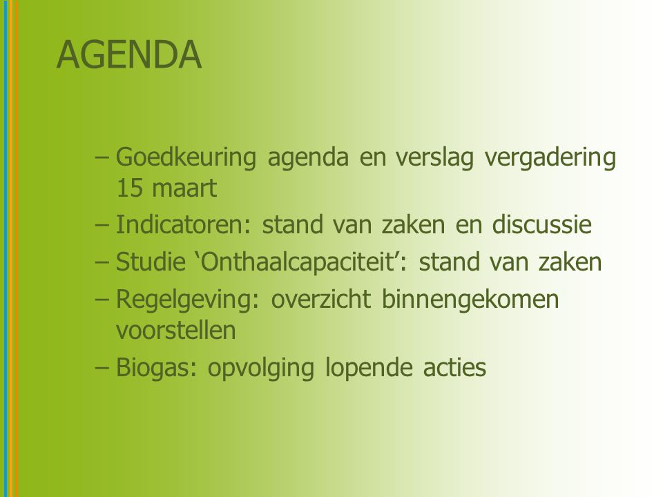 KPI's voor Demand Side Management 4A: Fraction of consumers contributing in DSM [%] 4B: Percentage of consumer load capacity participating in DSM [MW/MW] 4C: Potential for time shift (before start-up and during operation) [h] Via-Pact 2020Voorstel netbeheerders Voorstel Vreg