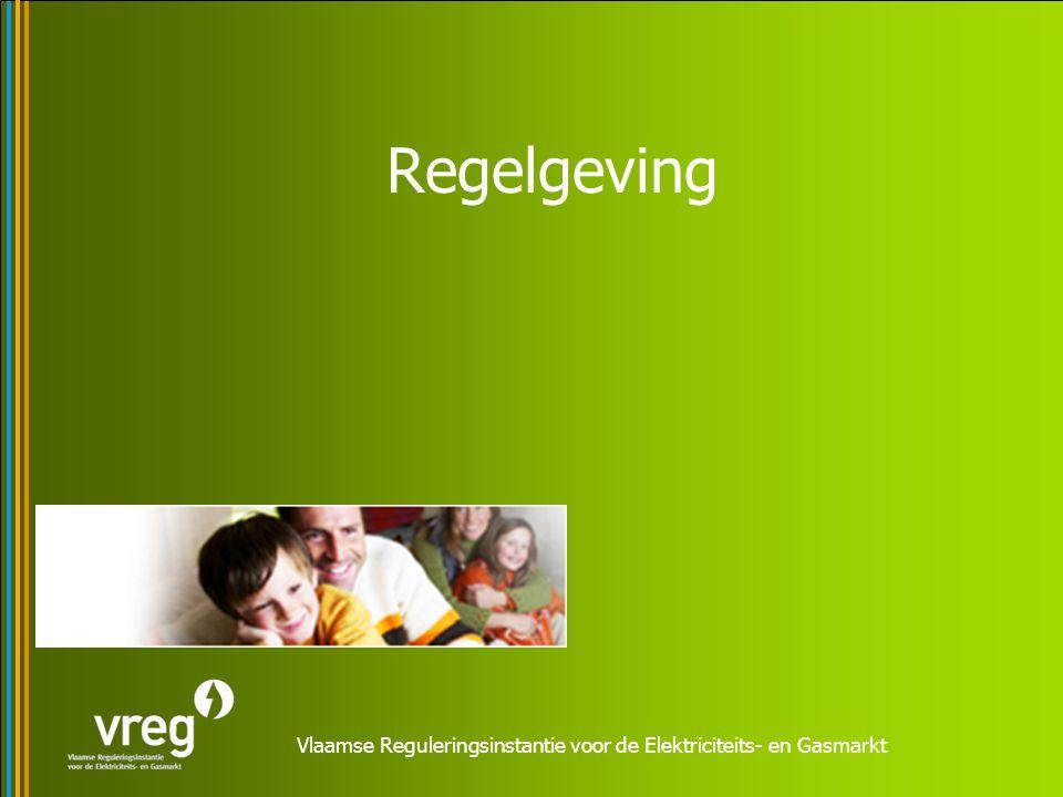 Vlaamse Reguleringsinstantie voor de Elektriciteits- en Gasmarkt Regelgeving