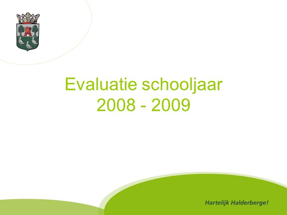 Evaluatie schooljaar 2008 - 2009