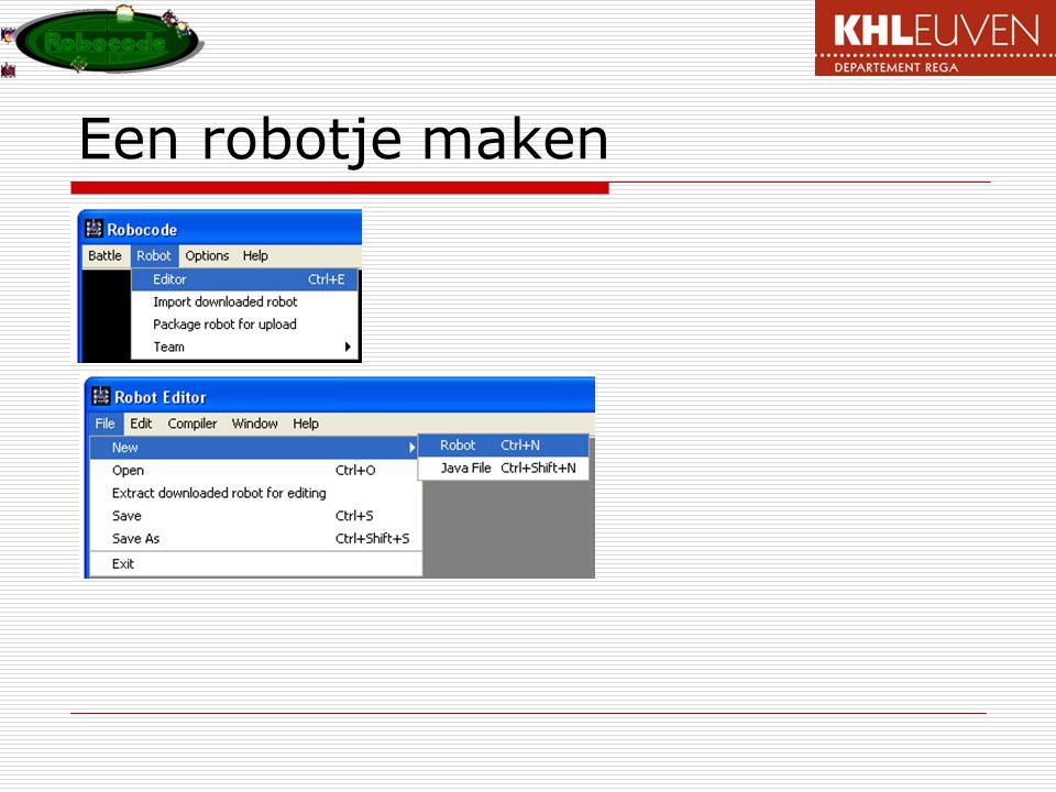 Een robotje maken
