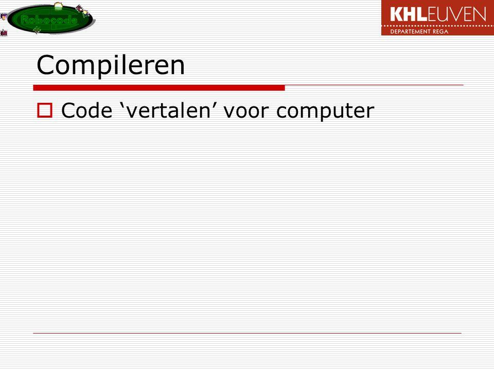 Compileren  Code 'vertalen' voor computer