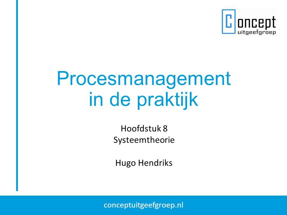 conceptuitgeefgroep.nl Procesmanagement in de praktijk Hoofdstuk 8 Systeemtheorie Hugo Hendriks
