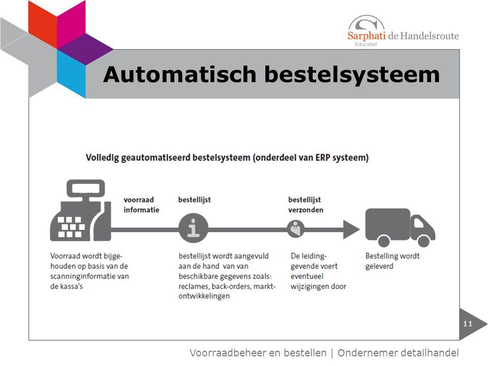 11 Voorraadbeheer en bestellen | Ondernemer detailhandel Automatisch bestelsysteem