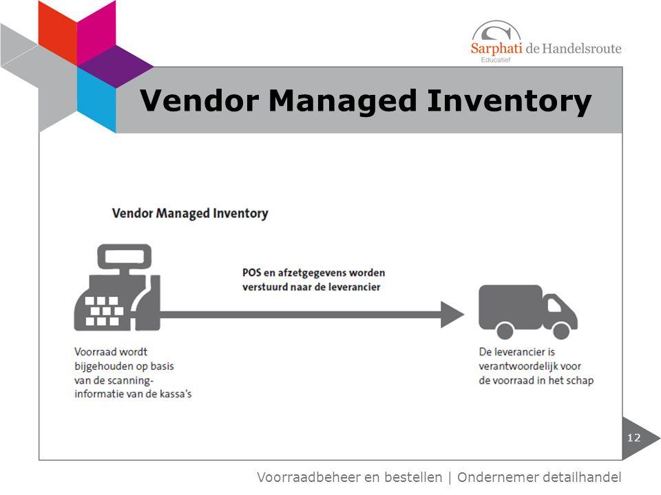12 Voorraadbeheer en bestellen | Ondernemer detailhandel Vendor Managed Inventory