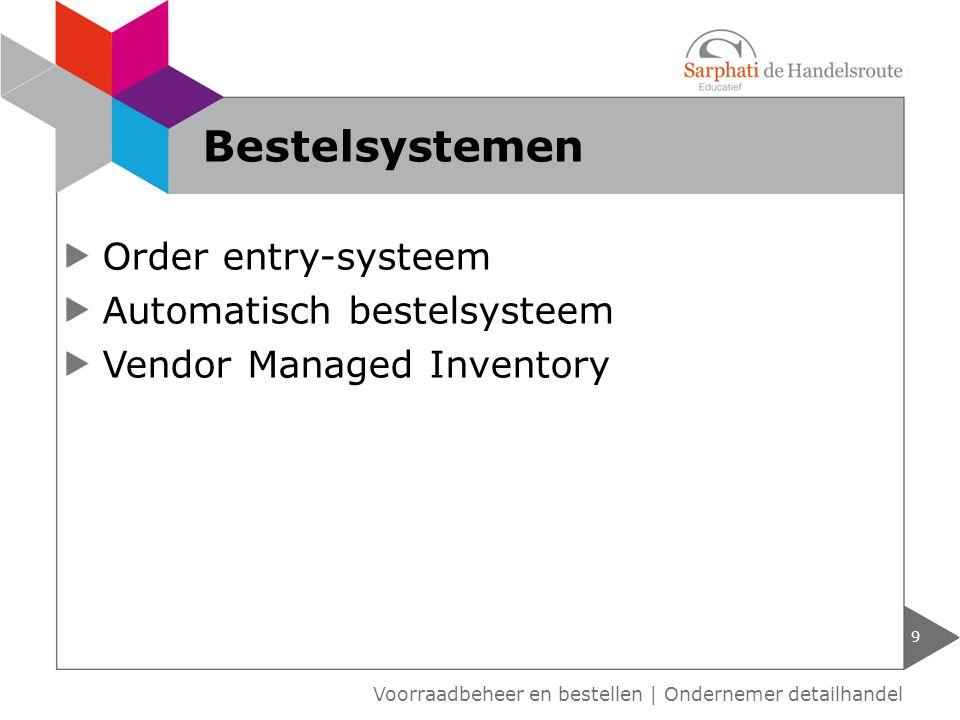 Order entry-systeem Automatisch bestelsysteem Vendor Managed Inventory 9 Voorraadbeheer en bestellen | Ondernemer detailhandel Bestelsystemen