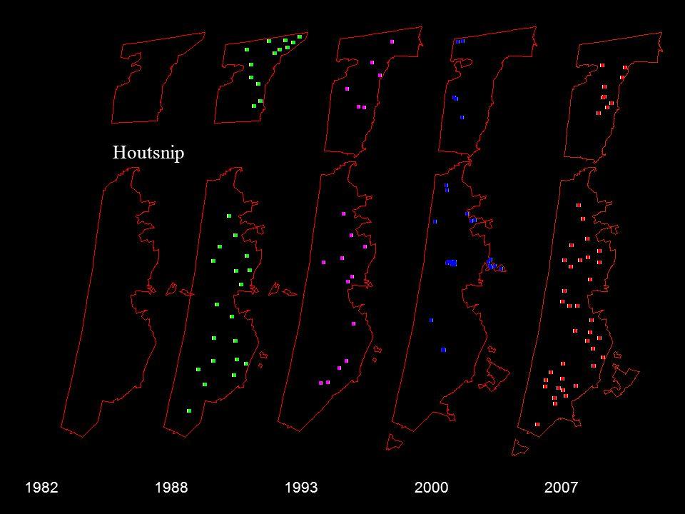 Houtsnip 19821988199320002007