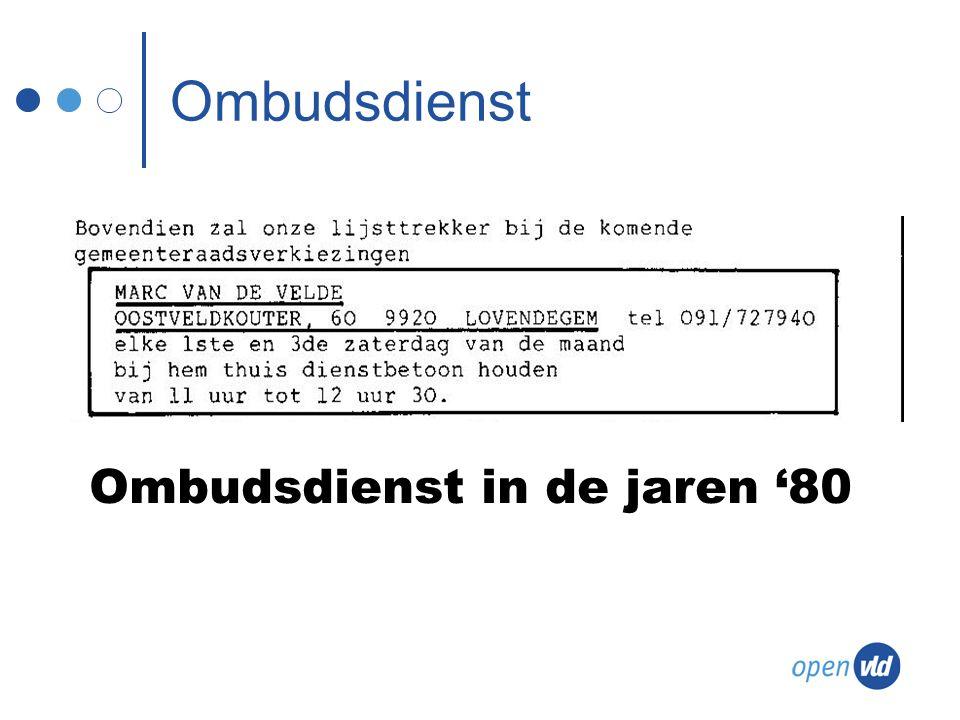 Ombudsdienst in de jaren '80 Ombudsdienst