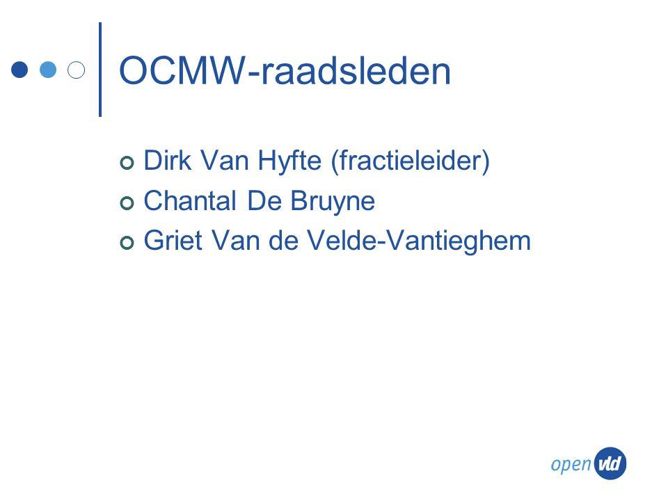 OCMW-raadsleden Dirk Van Hyfte (fractieleider) Chantal De Bruyne Griet Van de Velde-Vantieghem