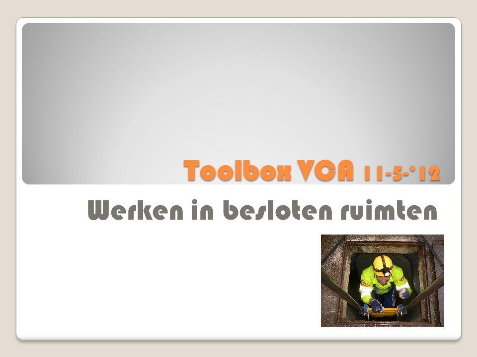 Toolbox VCA 11-5-'12 Werken in besloten ruimten