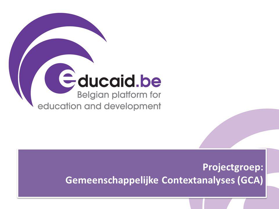 Projectgroep: Gemeenschappelijke Contextanalyses (GCA)