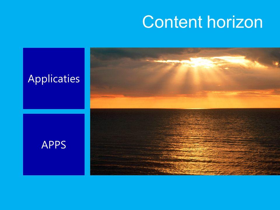 Content horizon Applicaties APPS