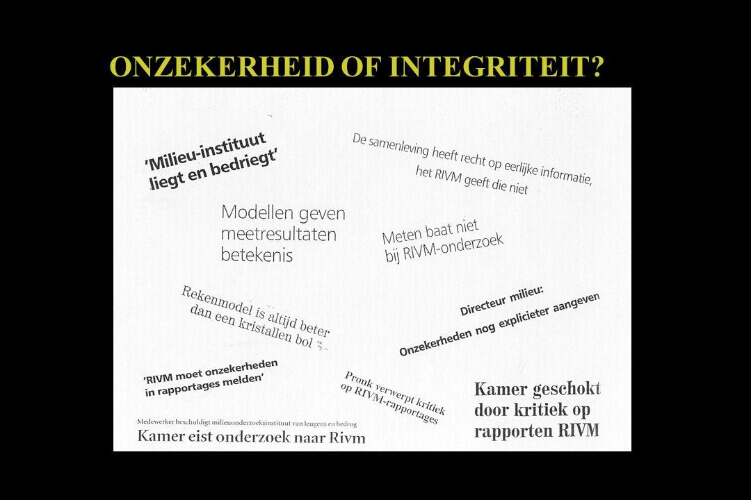 ONZEKERHEID OF INTEGRITEIT?