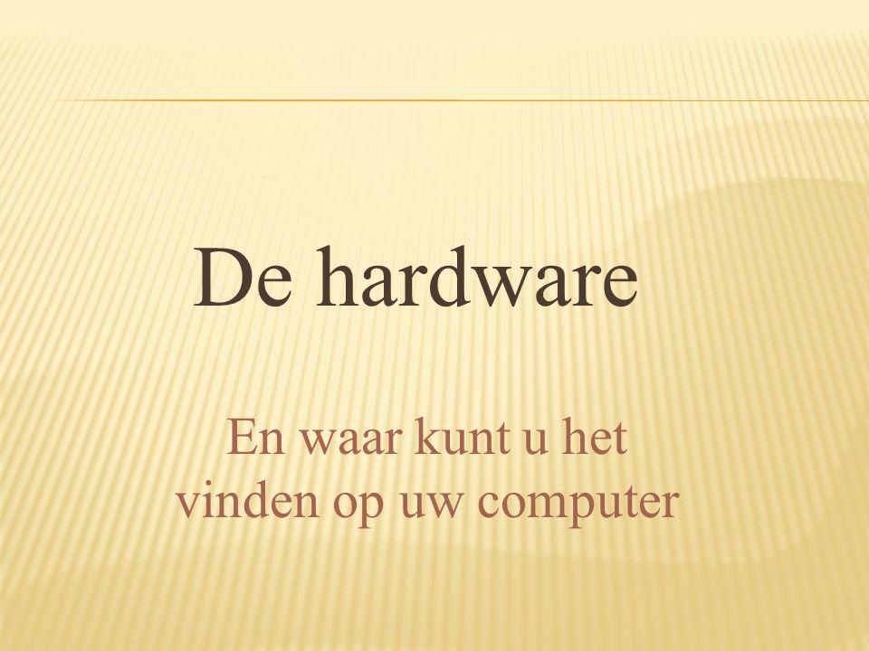De hardware En waar kunt u het vinden op uw computer