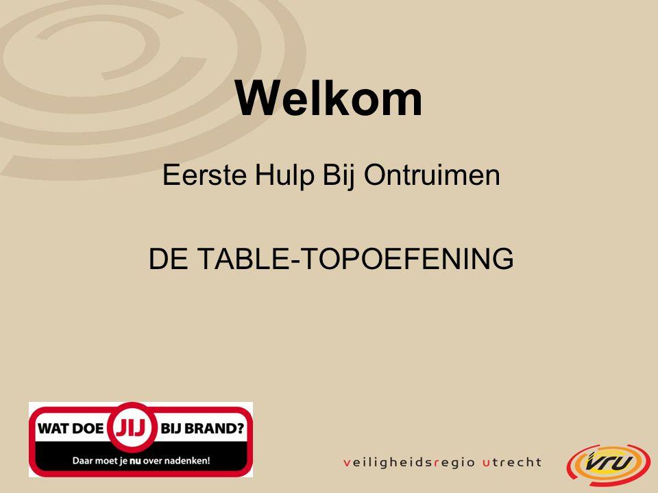 Welkom Eerste Hulp Bij Ontruimen DE TABLE-TOPOEFENING