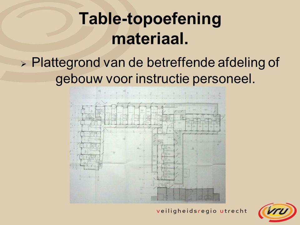  Plattegrond van de betreffende afdeling of gebouw voor instructie personeel.