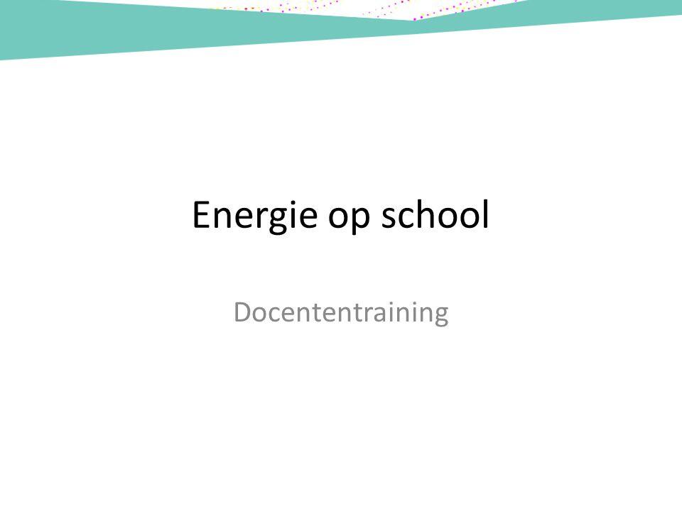 Energie op school Docententraining