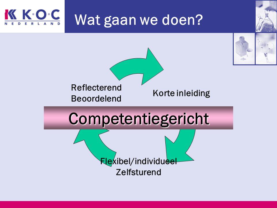 Werkzaamheden KOC Examenmodellen in opdracht van: Anbos en MBO-raad Branche Platform Kappers Provoet Samenwerking met scholen: pilots, commissies.