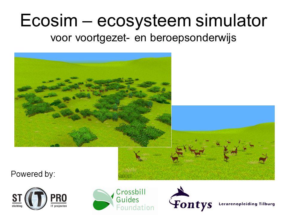 Ecosim – ecosysteem simulator voor voortgezet- en beroepsonderwijs Powered by: