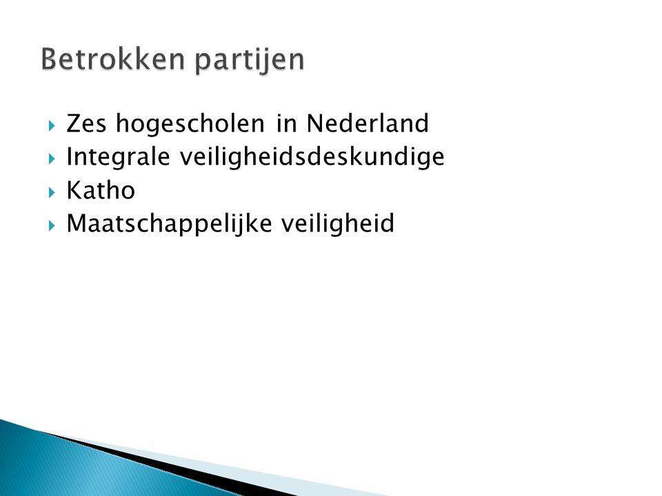  Zes hogescholen in Nederland  Integrale veiligheidsdeskundige  Katho  Maatschappelijke veiligheid