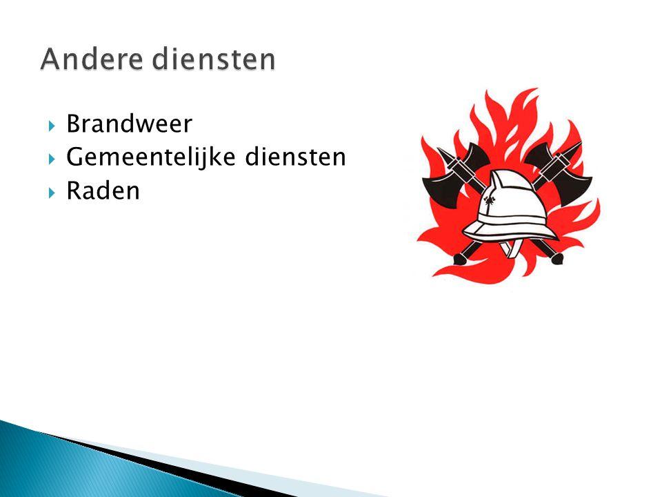  Brandweer  Gemeentelijke diensten  Raden