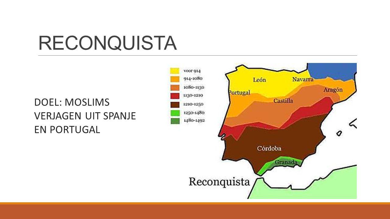 RECONQUISTA DOEL: MOSLIMS VERJAGEN UIT SPANJE EN PORTUGAL