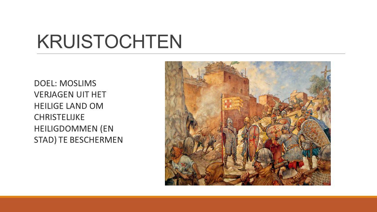 KRUISTOCHTEN DOEL: MOSLIMS VERJAGEN UIT HET HEILIGE LAND OM CHRISTELIJKE HEILIGDOMMEN (EN STAD) TE BESCHERMEN