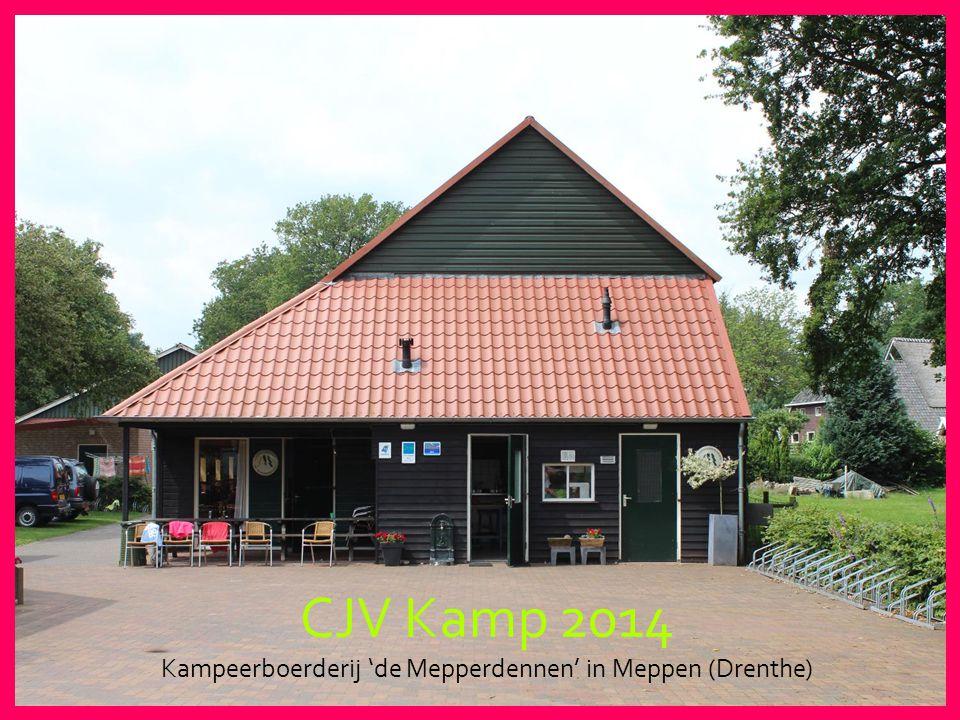 CJV Kamp 2014 Kampeerboerderij 'de Mepperdennen' in Meppen (Drenthe)