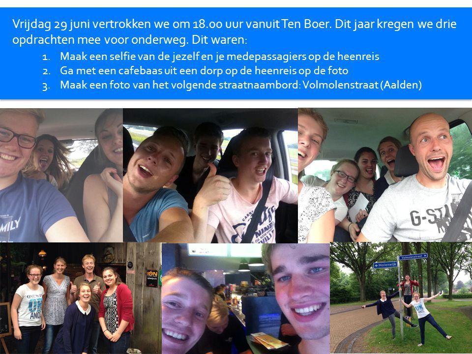 Vrijdag 29 juni vertrokken we om 18.00 uur vanuit Ten Boer.