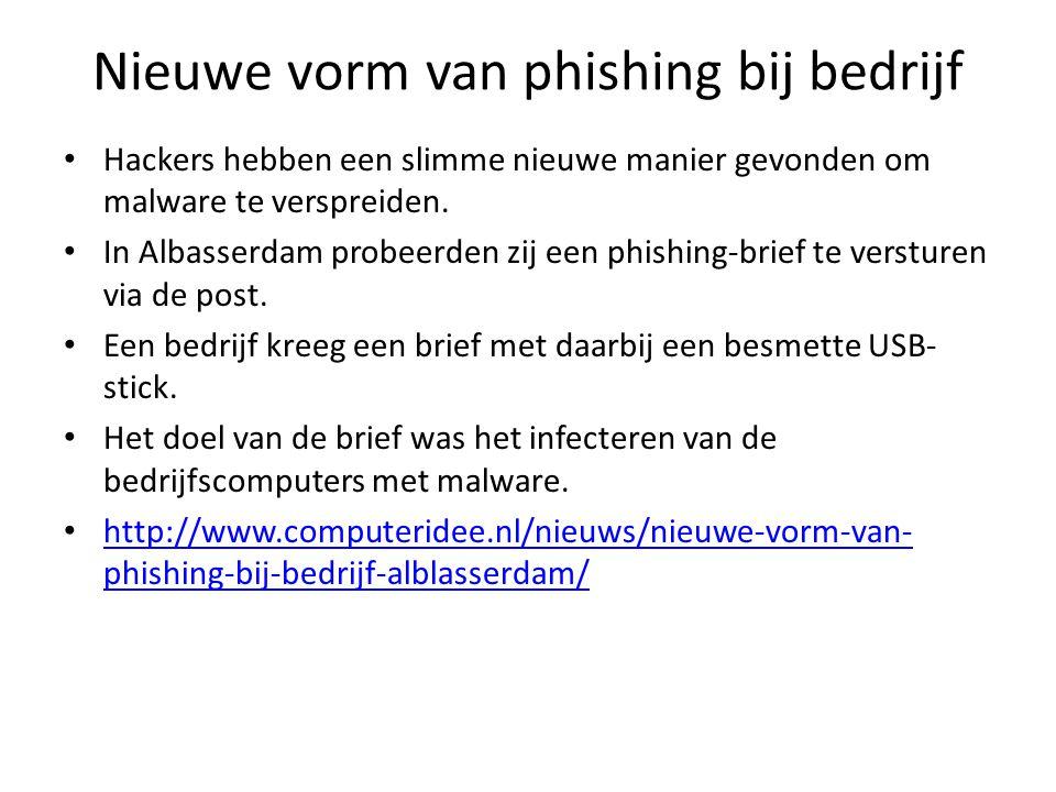 Nieuwe vorm van phishing bij bedrijf Hackers hebben een slimme nieuwe manier gevonden om malware te verspreiden.